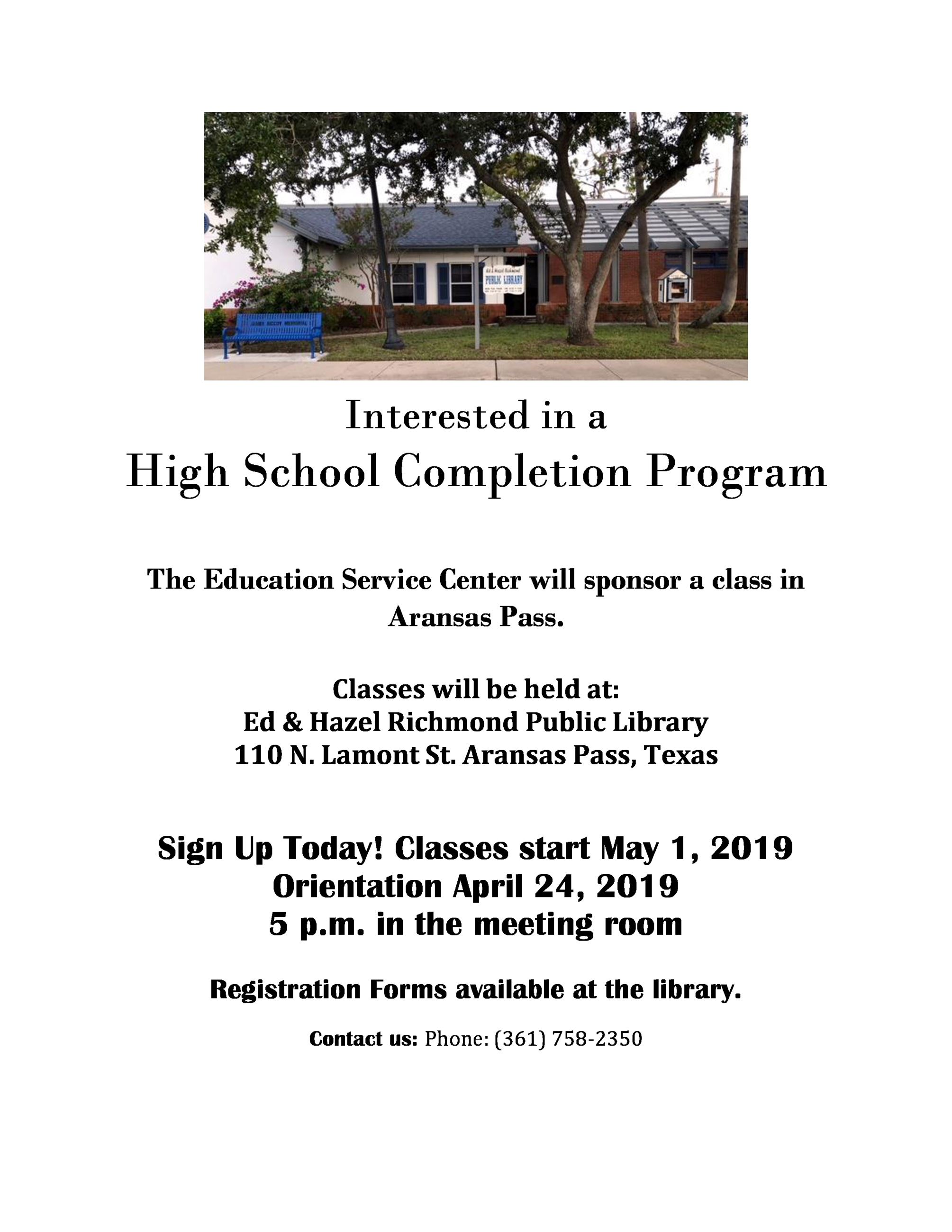 High School Completion Program